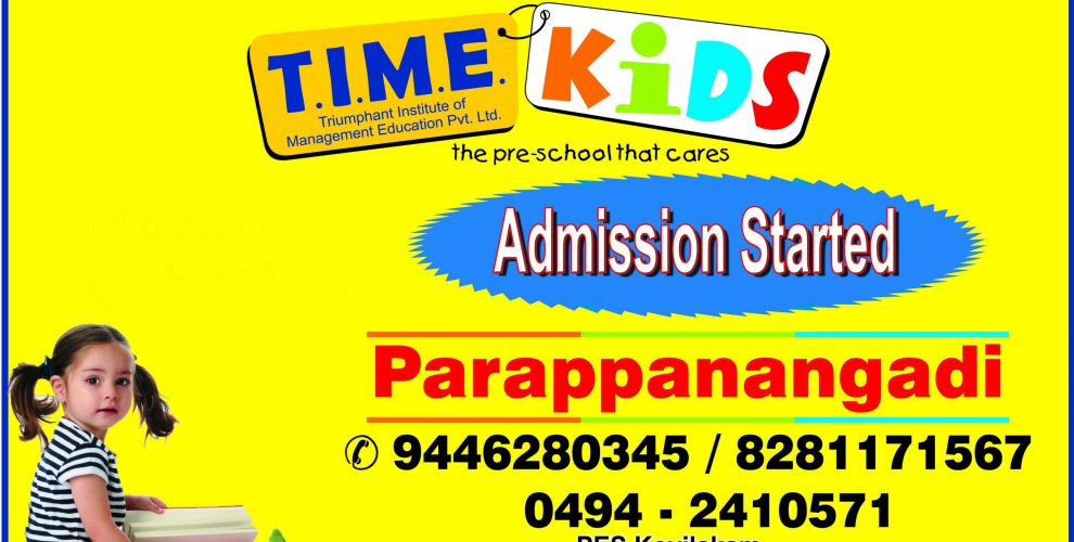 PES Kovilakam Parappanangadi Time Kids Admission Started